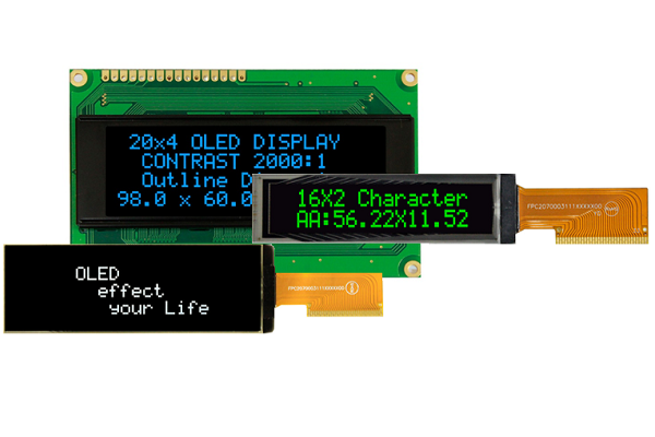 First Components  PMOLED Character LCD