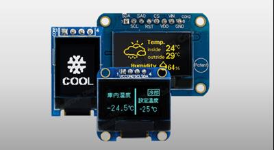 OLED COG+PCB SPI & I2C Interface