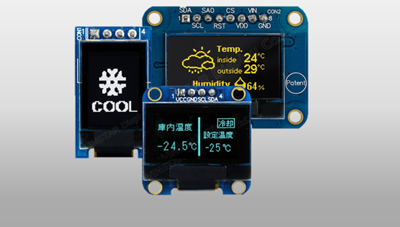 OLED COG+PCB interfaccia SPI&I2C