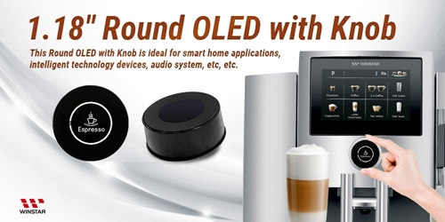 Circular OLED Touch Encoder Knob 1.18'' 128x128 pixels
