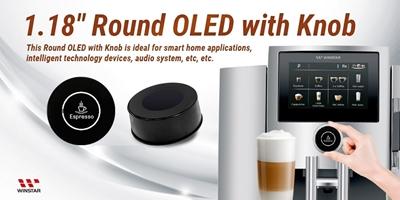 Circular OLED Touch Encoder Knob 1.18'' 128x128 pixels