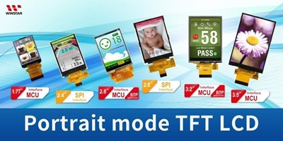 Portrait Mode COG TFT LCD from 0.96 inch to 3.2 inch