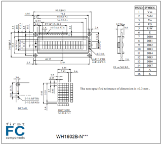 Picture of WH1602B-NGG-ET#