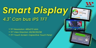 """4.3"""" 480x272 CAN Bus Smart TFT Display Series"""