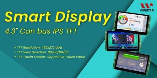 "Smart TFT Display 4.3"" 480x272 Interfaccia CAN Bus"